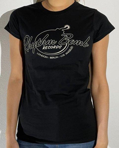 T-Shirt Rhythm Bomb Records London Berlin Los Angeles Girlies