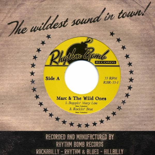 Marc and the Wild Ones Boppin' Mary Lou EP 7inch DELETED